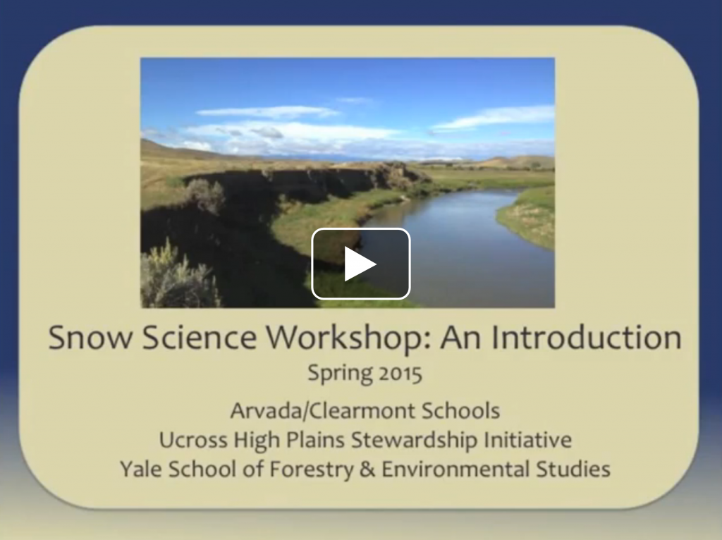 Snow Science Intro Video 2