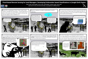 A poster detailing UHPSI's 2014 Google Earth Engine Research Award research program.